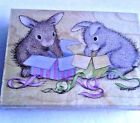 House Mouse Happy Hoppers Hoppy Birthday Rubber Stamp Bumble Hop it HMOR1116