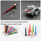 Car ATV Motorcycle Dirt Bike Carburetor Easy Air Fuel Mixture Adjuster Red Screw