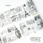 Europes Memories Illustration Washi Paper Adhesive Tapes Decor DIY Scrapbook