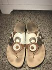Think Julia Brown Circle Leather Sandals In Size 40 9 95 EUC