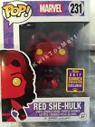 Funko Pop! Marvel RED SHE-HULK SDCC Summer Convention Exclusive 2017