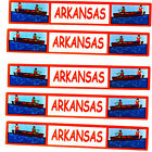 Travel TITLE STATE Scrapbook Stickers ARKANSAS 5 Sheets