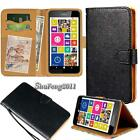 Black Flip Cover Stand Wallet Leather Case For Various Nokia SmartPhones + Strap