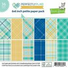 Lawn Fawn Double Sided Petite Paper Pack 6X6 36 Pkg LF1521 Perfectly Plaid