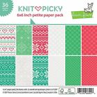 Lawn Fawn Double Sided Petite Paper Pack 6X6 36 Pkg LF1529 Knit Picky 6 Des
