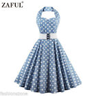 ZAFUL Vintage Style Swing 1950s Housewife Retro Pinup Rockabilly Evening Dress