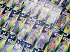 STAR WARS GREEN  RED  TRI LOGO CARDED FIGURES ALL MOC SEE PHOTOS