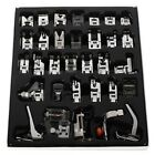 32Pcs Domestic Cloth Sewing Machine Presser Foot Feet For Brother Singer Janome