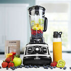 Professional Smoothie Blender High Speed Food Processor Recipe Book 1500W Black