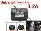 Universal Car Electric Turbine Turbo Double Fan Super Charger Boost Intake Fans