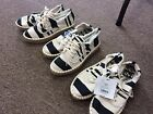 DV Roxie Womens Black and White Stripes Shoes Various Sizes New with Tags