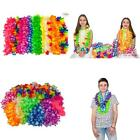 Bliss List 51 Counts Hawaiian Lei Hawaii Tropical Beach Party Decorations Premiu
