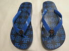 Tory Burch Wedge Flip Flop Navy  Grand Marina Size 7 68 Authentic NWT New
