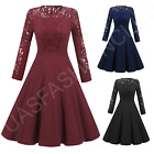 Womens New Vintage Lace Formal Wedding Cocktail Evening Party Retro Swing Dress