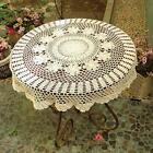 Round Hand Crochet Tablecloth Sunflower Table Doily 315inch