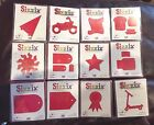 SIZZIX LARGE RED DIE CUTS SELECT  DISCONTINUED  RETIRED DIES
