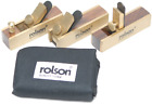 Rolson 56403 Mini Brass Plane Kit - Tools -Woodworking Planes With Storage Pouch