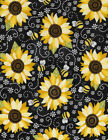 YOU ARE MY SUNSHINE Sunflower Quilt Fabric sold by 1 2 Yard C5345