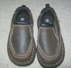 Faded Glory Infant Toddler Boys Size 65 Brown Loafers Slip On Excellent