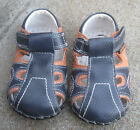 Pediped Brody Originals Infant Boys Sandals Shoes Navy  Orange 6 12 months