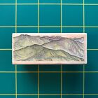 All Night Media 479E Endless Hills Rubber Stamp Mountains Scenery Lightly Used