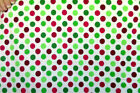 Spring Creative Flannel Christmas Dots 100 Cotton Fabric BTY