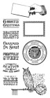 Graphic 45 G45 Rare Oddities 2 Cling Stamp Cards Halloween 9 pieces Word Phrase