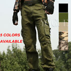 Mens Military Army Camo Cargo Pants Camouflage Overall Tactical Baggy Slacks