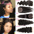 Longqi 4*4 Brazilian Hair Lace Closure Wavy/Curly/Straight Human Hair Extensions