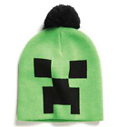 Official Jinx Minecraft - Creeper Face Pom Beanie Hat - One Size