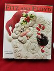 Fitz and Floyd Santa Yuletide Holiday Canape Plate or Wall Hanger With Orig Box