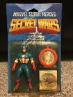Mattel Marvel SECRET WARS Captain America Action Figure 1984 Mint on VG Card