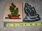 All Night Media Posh Impressions Cactus Plant Garden Duets 2 Rubber Stamps