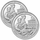 2017 Ellis Island America The Beautiful 5 oz Silver Coin Lot of 2 from Mint Tube