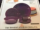 Fiestaware Plum 5 PIECE PLACE setting Retired 2015 Fiesta  830 323 MINT BOXED