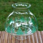 Vintage Clear Glass Christmas Holiday Hurricane Lamp Chimney Replacement Shade