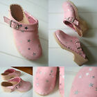 Hanna Andersson Clogs Shoes Stardust Pink Silver Stars Girl Size 32 US Youth 1