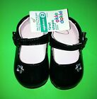 NEW Baby Girls Size 2 Black Dress Crib Shoes Sandals 3 6 Months Gift 1999