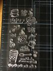 Coffee Clear Rubber Stamps Cling Mount