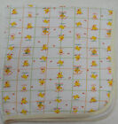 Wee Play Kids A Day At The Duck Pond Baby Receiving Blanket White Cotton 92222