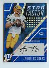 AARON RODGERS - 2017 UNPARALLELED BLUE STAR FACTOR AUTO S# 01 10 EBAY 1 1