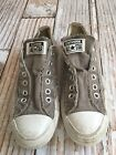 Converse ALL STAR Ox Lo Distressed Charcoal Gray no tie slip on Size mens 45