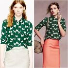 JCrew silk butterfly blouse Size 12