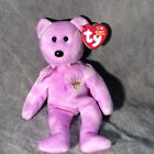 Purple TY2003 Yours Truly Hallmark Gold Crown Exclusive Ty Beanie Baby Bear