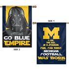 MICHIGAN WOLVERINES STAR WARS DARTH VADER 28X40 DOUBLE SIDED BANNER FLAG NEW
