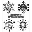 Tim Holtz Stampers Anonymous WEATHERED WINTER Rubber Cling Stamp Set CMS245