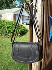 Purse NWT by Sonoma Magnetic Flap Closure Black Bradee Saddle Bag Crossbody