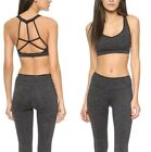 KORAL Activewear Stealth Strappy Sports Bra Heather Black Size Small nwt