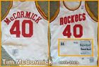 Tim McCormick 1988 1989 Houston Rockets Sand Knit Game Worn Home Jersey Michigan