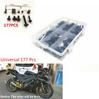 Black 177pcs Motorcycle Fairing Bolt Kit Bodywork Screws Spire Screw Spring Nuts